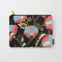 Suzani inspired on black Carry-All Pouch