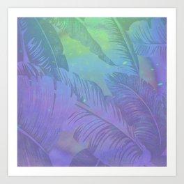 Rainbow in Palms Art Print