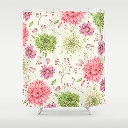 Pastel Florals Shower Curtain