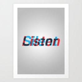 Listen/Silent Art Print