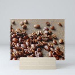 Fresh Coffee on the wood Mini Art Print