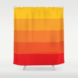 Retro Sunrise Shower Curtain