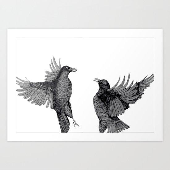 Ravens. Art Print