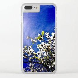 Pacific Dogwood Blossoms Clear iPhone Case
