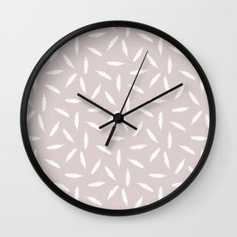 Pillow Fight,White on Rose Wall Clock