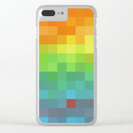 Pixel Rainbow Clear iPhone Case