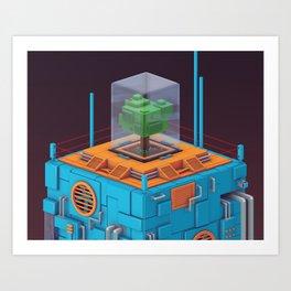 The Blue Tower (closeup) Art Print