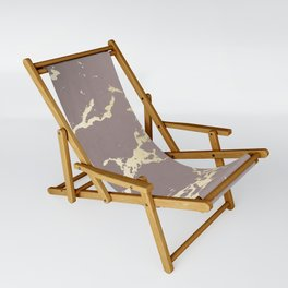 Kintsugi Ceramic Gold on Red Earth Sling Chair