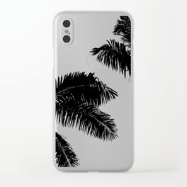 Minimal Palm Print Clear iPhone Case