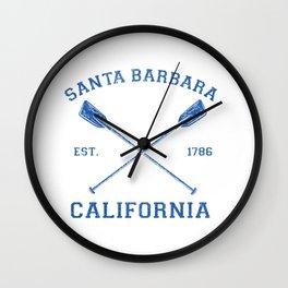 Vintage Santa Barbara Vacation Design Wall Clock