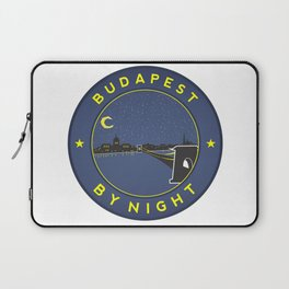 Budapest By Night, circle with frame Laptop Sleeve