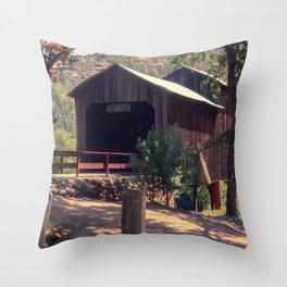 Honey Run Covered Bridge Farewell Throw Pillow
