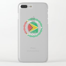 Guyana Its In My DNA Clear iPhone Case