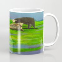 cows Mugs featuring Cows by Ric Soens