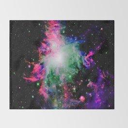 Orion Nebula Black Pyschedelic Throw Blanket