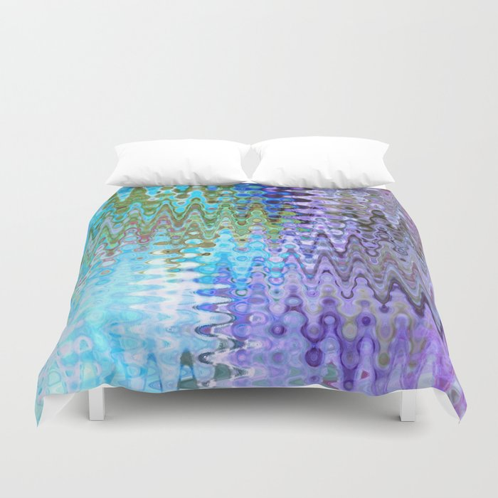 Charming Distractions, Abstract Art Waves Duvet Cover