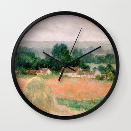 Haystack at Giverny by Claude Monet Wall Clock