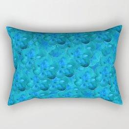 Blue in Bloom Rectangular Pillow