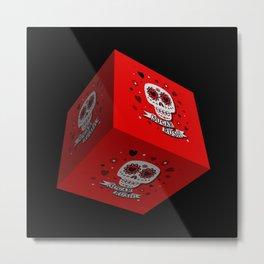 Sugar Rush 3D Cube Metal Print