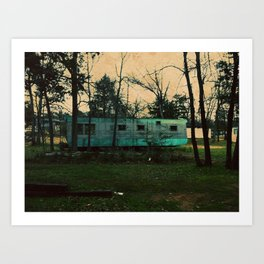 rustic trailer Art Print