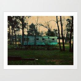 rustic trailer Art Print