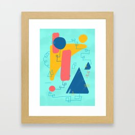Big Wave Beachwear Supply Co Framed Art Print