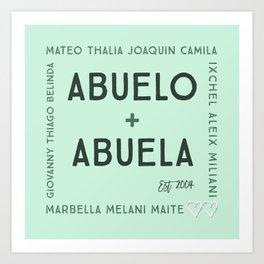 Abuela + Abuelo Art Print