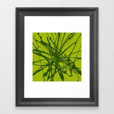 Bloom Green Framed Art Print