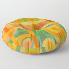 PipeWorks (hot colored textured abstract) Floor Pillow
