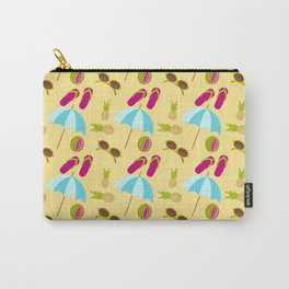 Beach design pattern with beach umbrella Carry-All Pouch