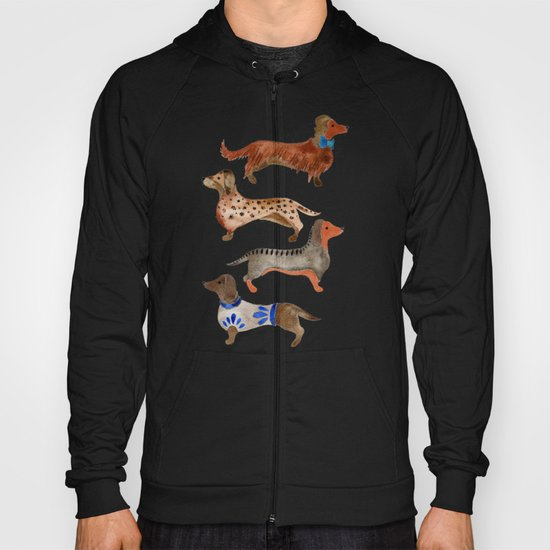 Dachshunds on Blue Hoody
