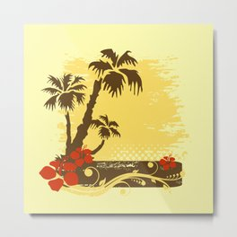 Tropical summer Metal Print
