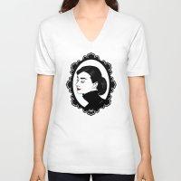 audrey hepburn V-neck T-shirts featuring Audrey Hepburn  by Pendientera