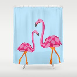 Disco Flamingo Shower Curtain