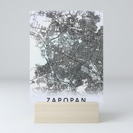 Zapopan, Jalisco, Mexico, White, City, Map Mini Art Print