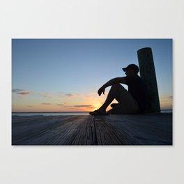 Dock Thinking Canvas Print
