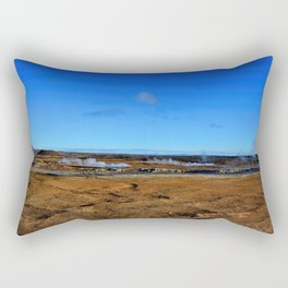 Namafjall geothermal Iceland Panorama Rectangular Pillow