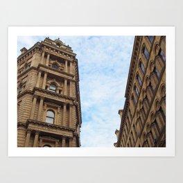 neoclassical architecture - little germany - bradford Art Print