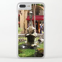 Santa Barbara Turtle Fountain 2535 Clear iPhone Case