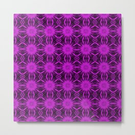 Dazzling Violet Floral Abstract Metal Print
