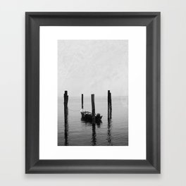 Boat on the lake Framed Art Print