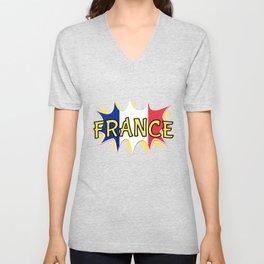 France Unisex V-Neck