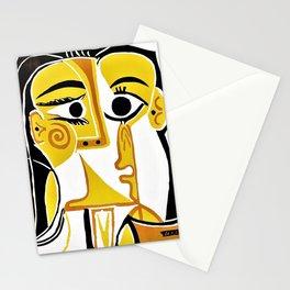 12,000pixel-500dpi - Pablo Picasso - Stylized Portrait of Jacqueline - Digital Remastered Edition Stationery Cards
