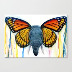Butterfly Elephant Canvas Print