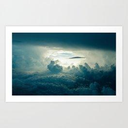 Dark Clouds Aerial View Art Print