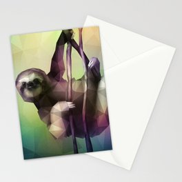 Sloth (Low Poly Multi) Stationery Cards