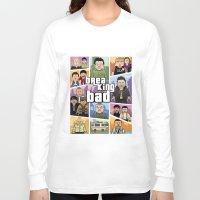 gta v Long Sleeve T-shirts featuring Lego Gta Mashup Breaking Bad by Akyanyme