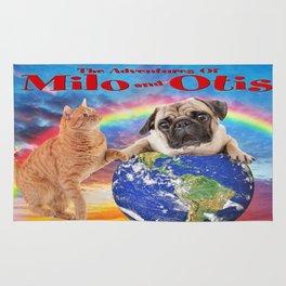 Milo And Otis Take On The World Rug