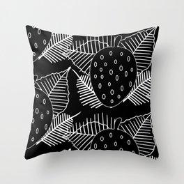 Dysfunctional Fruit Silhouettes Throw Pillow