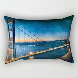 Golden Gate Ghost Bridge Rectangular Pillow